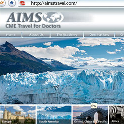 web site for AIMS Travel - www.aimstravel.com