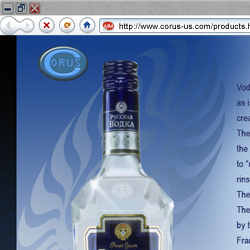 web site for Russian Diamond Vodka - http://www.corus-us.com/products.htm